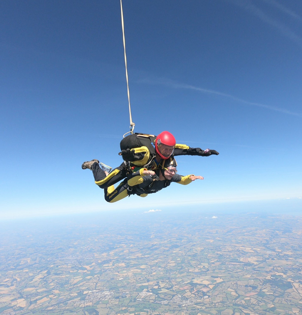 Sophie McConnell, Sotic Marketing Assistant skydiving to raise funds for VSO