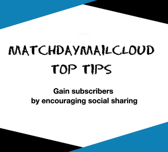 Gain subscribers by encouraging social sharing