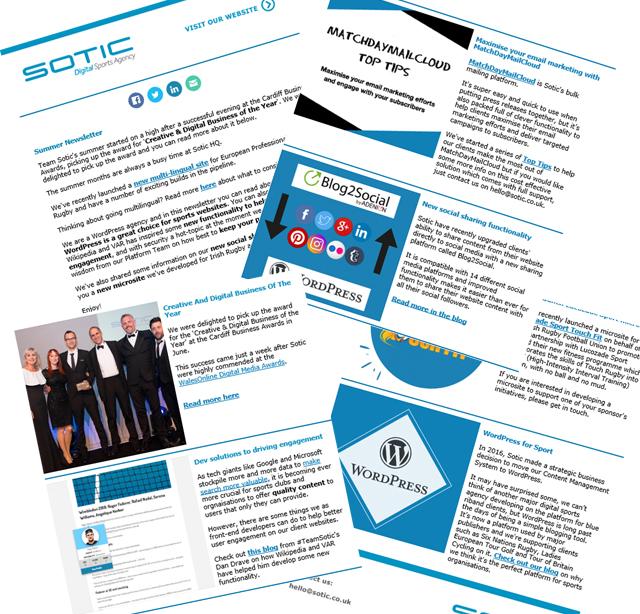 Sotic Newsletter signup