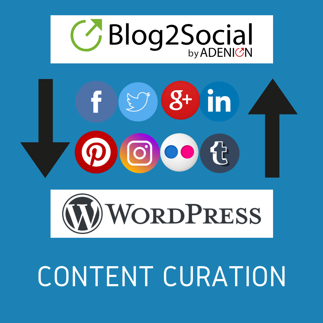 CONTENT-CURATION WITH blog2social