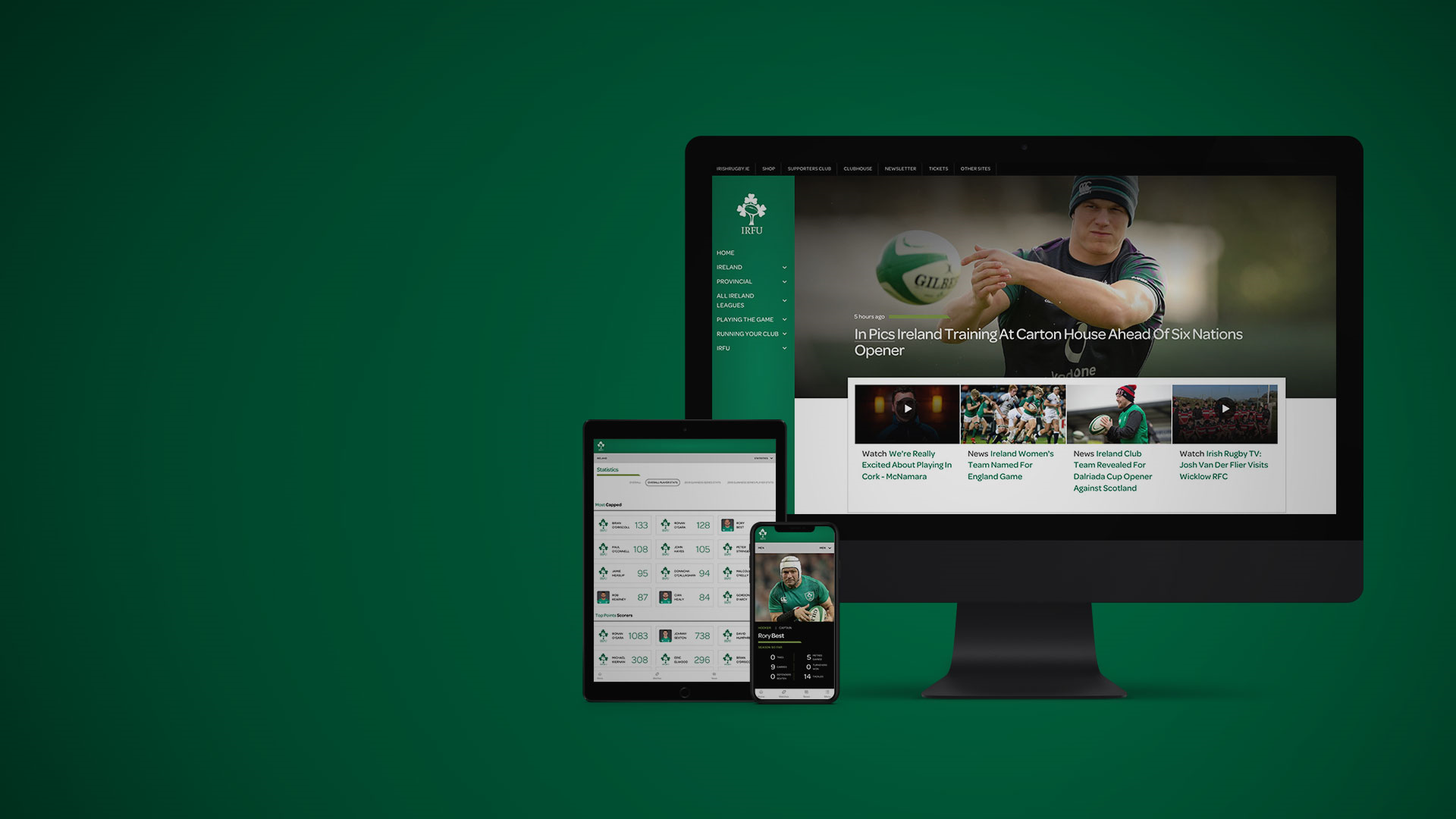 Sotic launches new digital platform for Irish Rugby