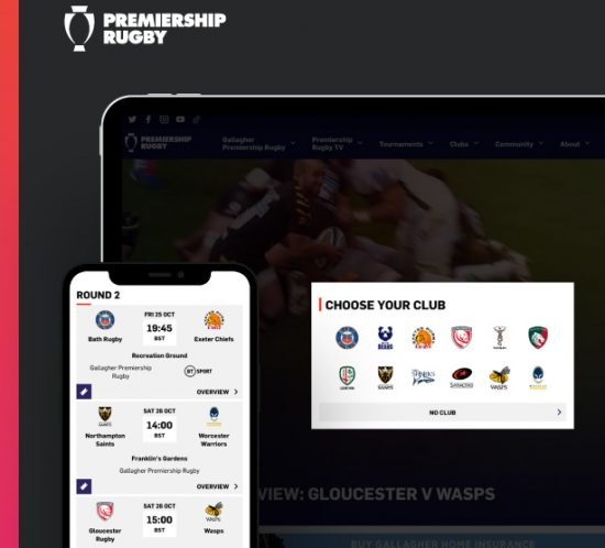 New Premiership Rugby website