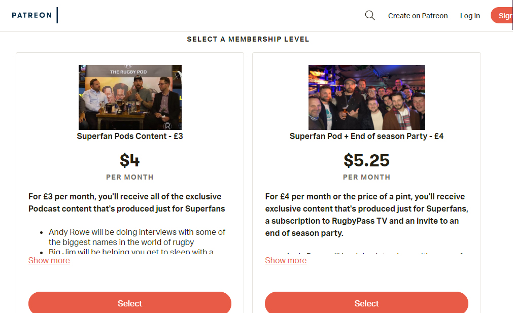 Patreon is a content subscription platform