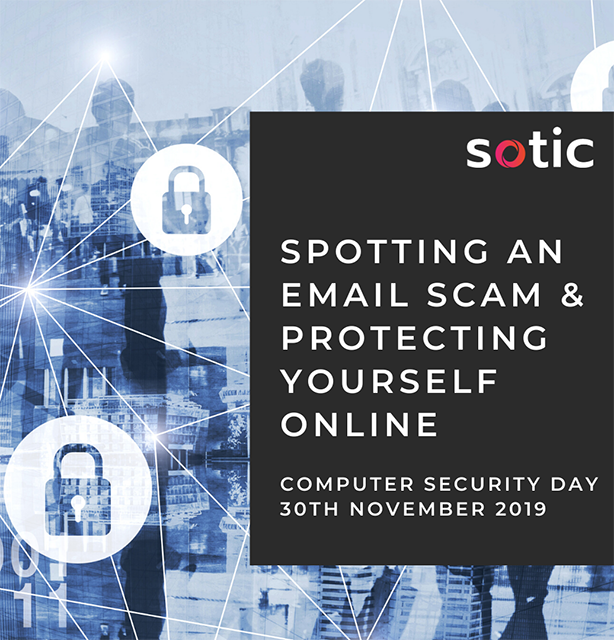 Computer Security Day 2019 - Spotting an email scam