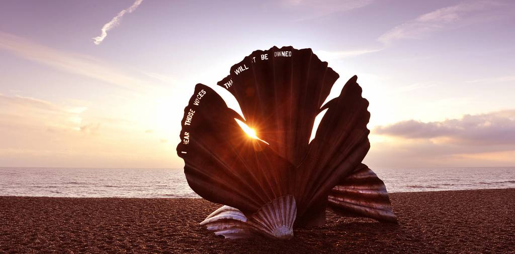 The Scallop by Maggi Hambling Aldeburgh