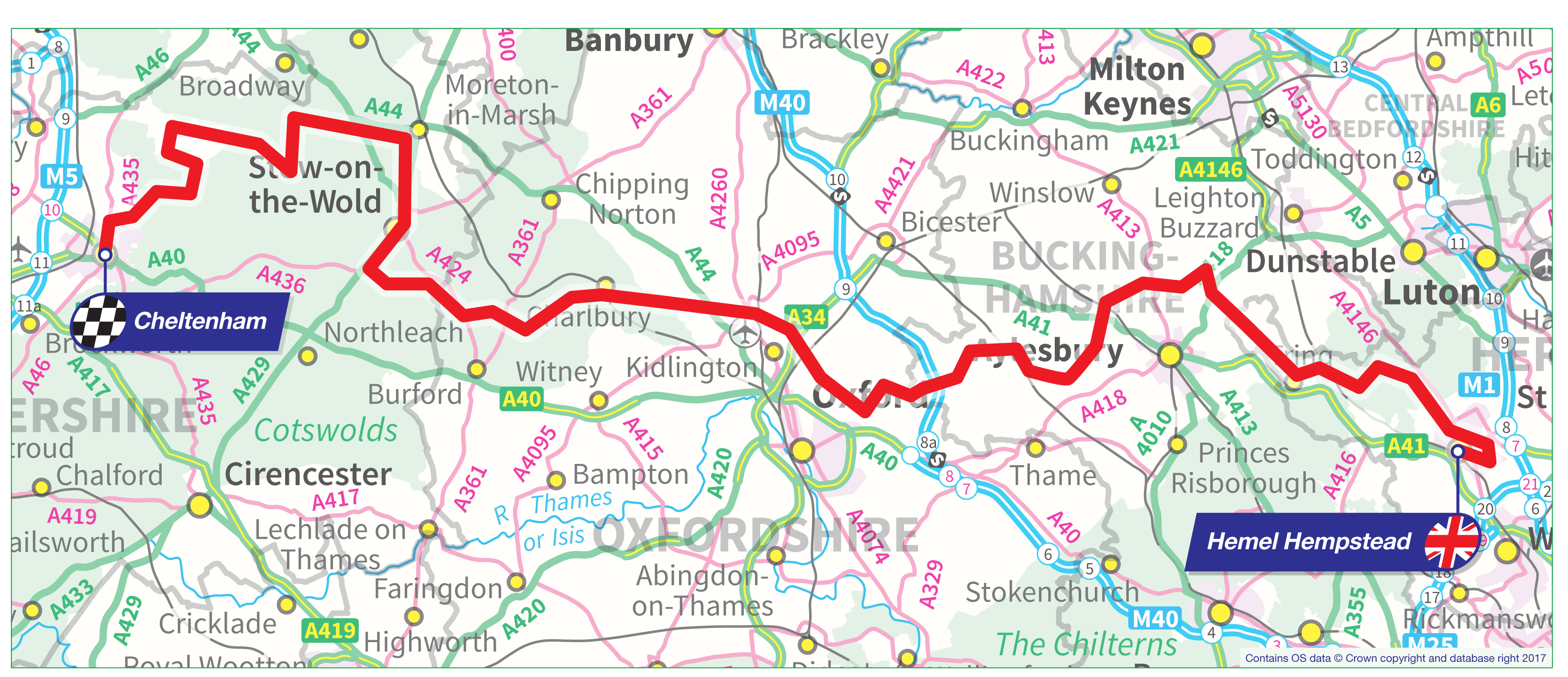OVO Energy Tour Of Britain Stage Seven - Britain on a map