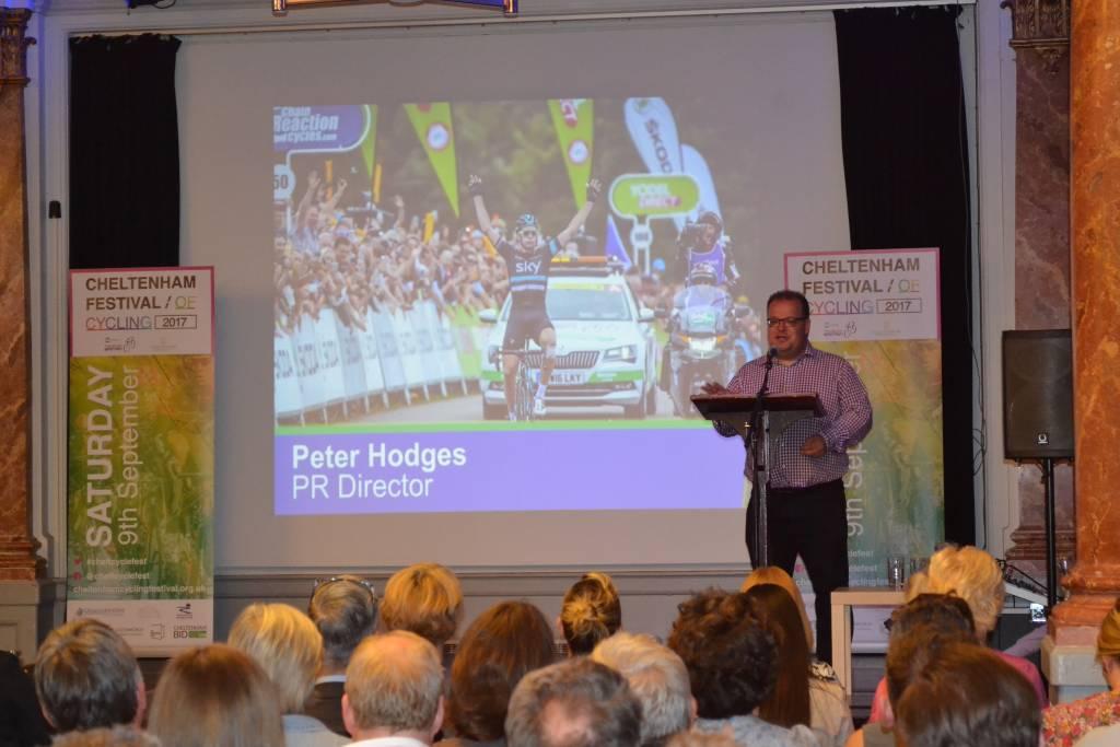 Peter Hodges Cheltenham Cycling Festival Launch