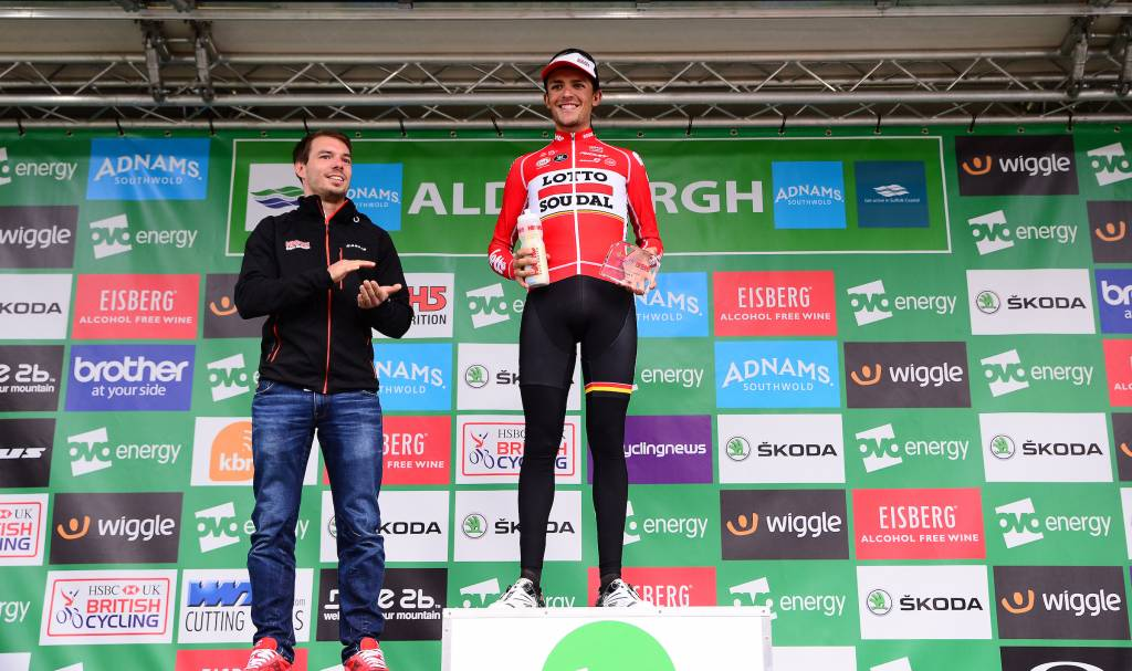 James Shaw Lotto Soudal Podium Aldeburgh Stage 6 Combativity Award
