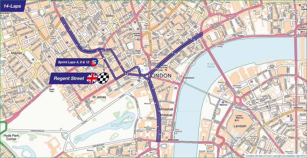London Tour Map.Ovo Energy Tour Of Britain London