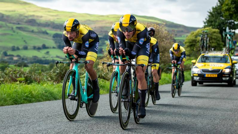 Primoz Roglic moves into OVO Energy Tour of Britain lead as Team LottoNL- Jumbo win Stage Five TTT b35879c16