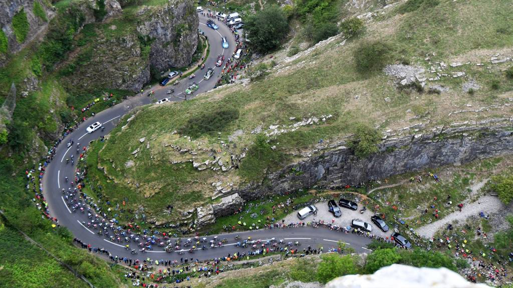 Cheddar Gorge Tour of Britain cycling photo