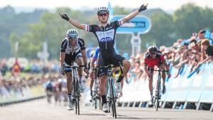 Tour of Britain uphill finish