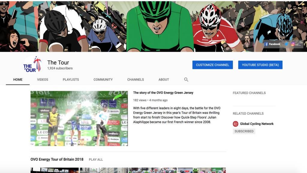 Tour of Britain YouTube