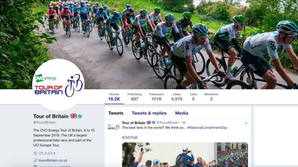 Tour of Britain Twitter