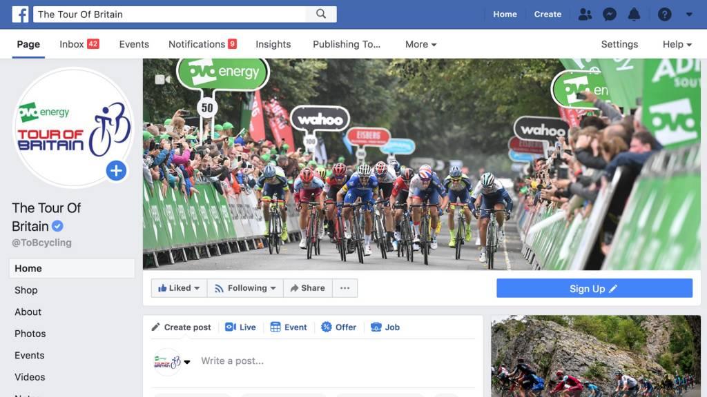 Tour of Britain Facebook