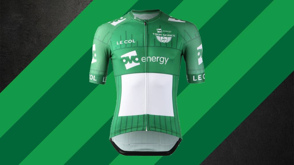 487591e57 Tour Series Le Col. The 2019 OVO Energy green leaders  jersey