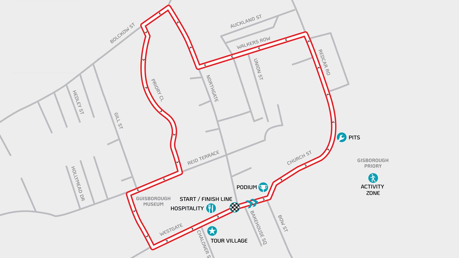 Tour Series Guisborough circuit
