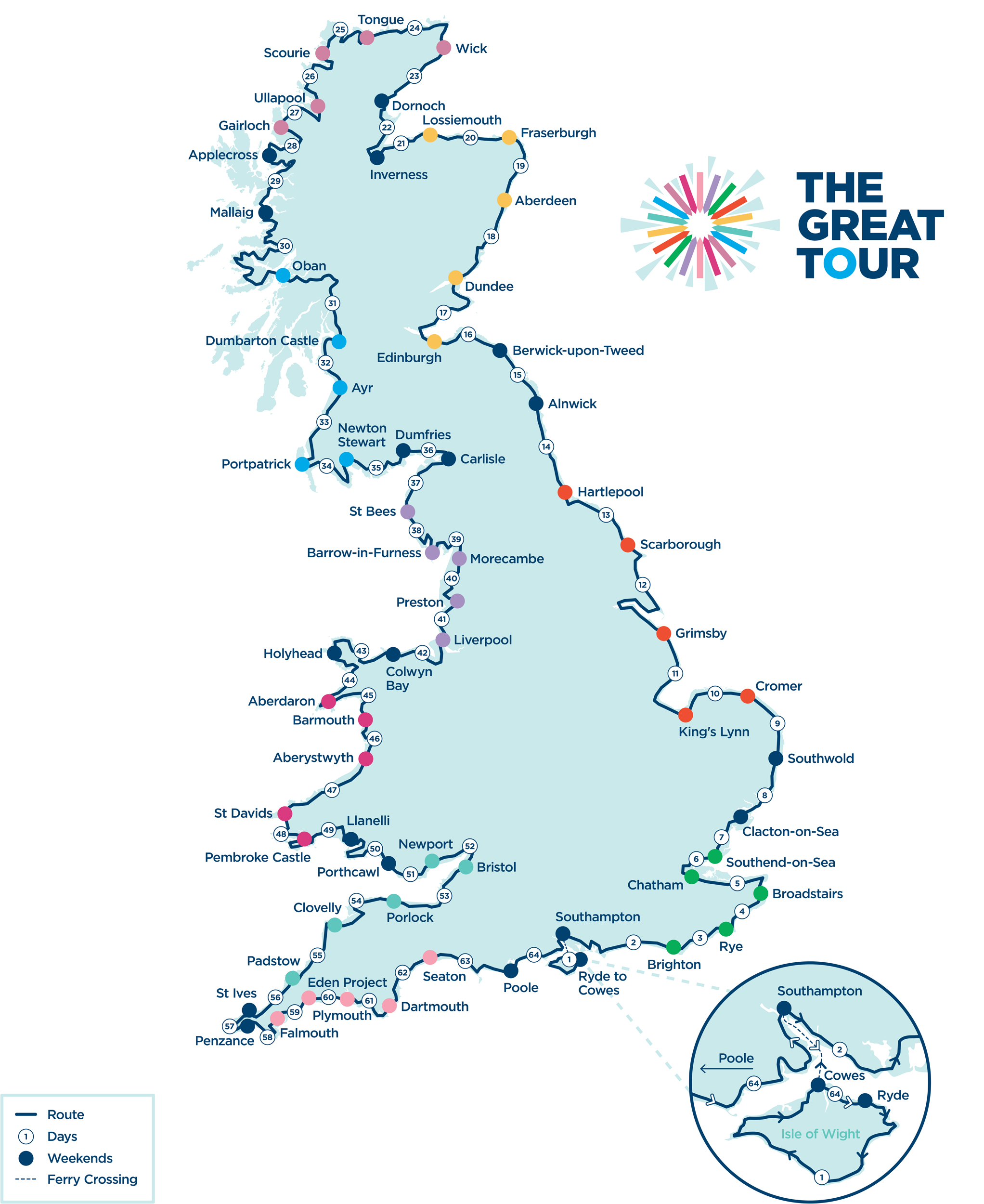 The Great Tour Route