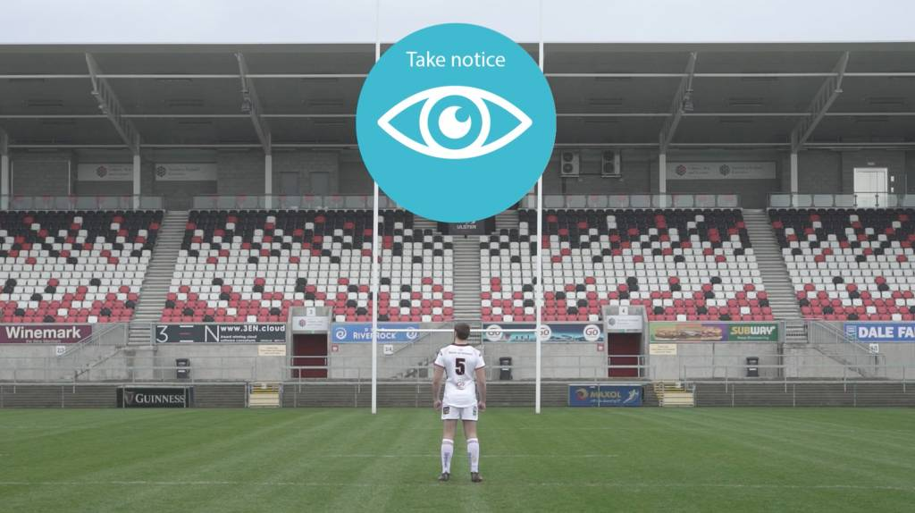 Ulster Rugby encourages supporters to Take 5 Steps to Wellbeing