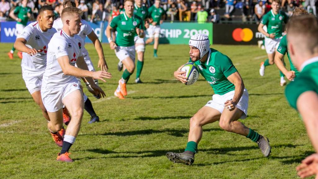 Ireland U20 42 England U20 26