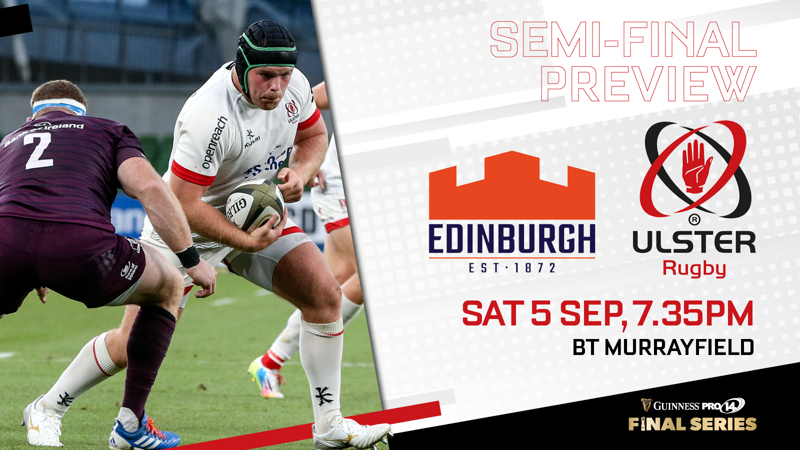 Ulster Rugby Match Preview Edinburgh V Ulster Guinness Pro14 Semi Final