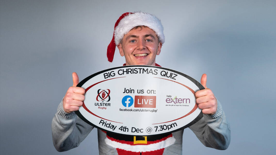 Ulster Rugby announces first ever virtual Big Christmas Quiz in support of Extern