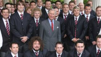 Wales team given royal send off