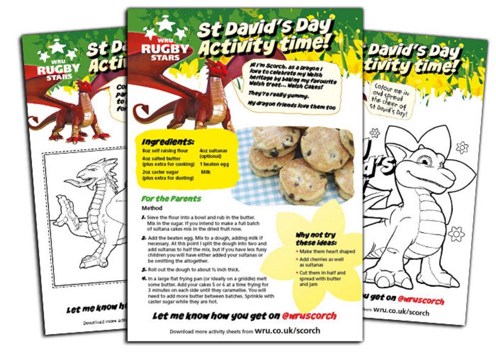 Scorch St Davids Activity sheets