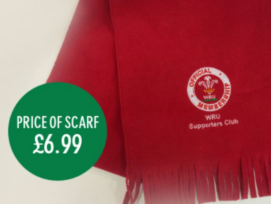 Pre-order your limited edition WRU Supporters Club fleece scarf!
