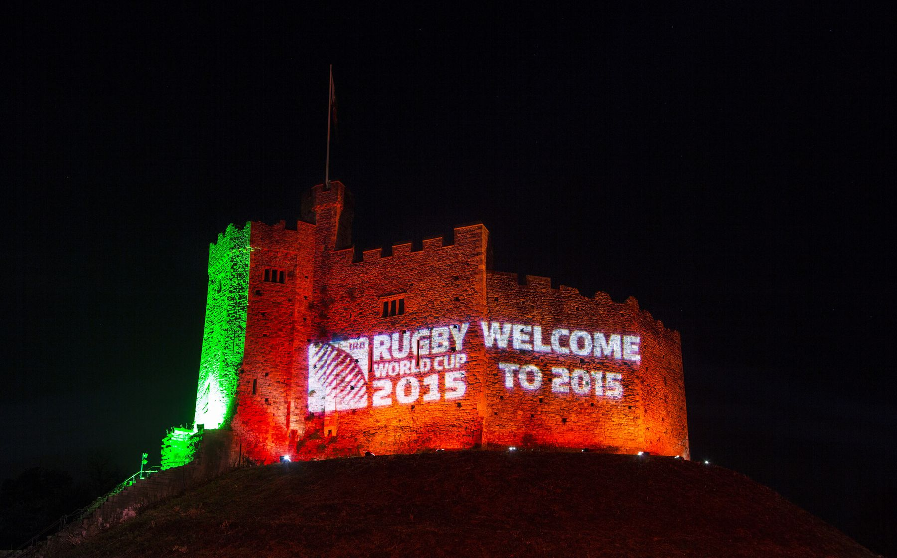 Cardiff lights up for RWC2015