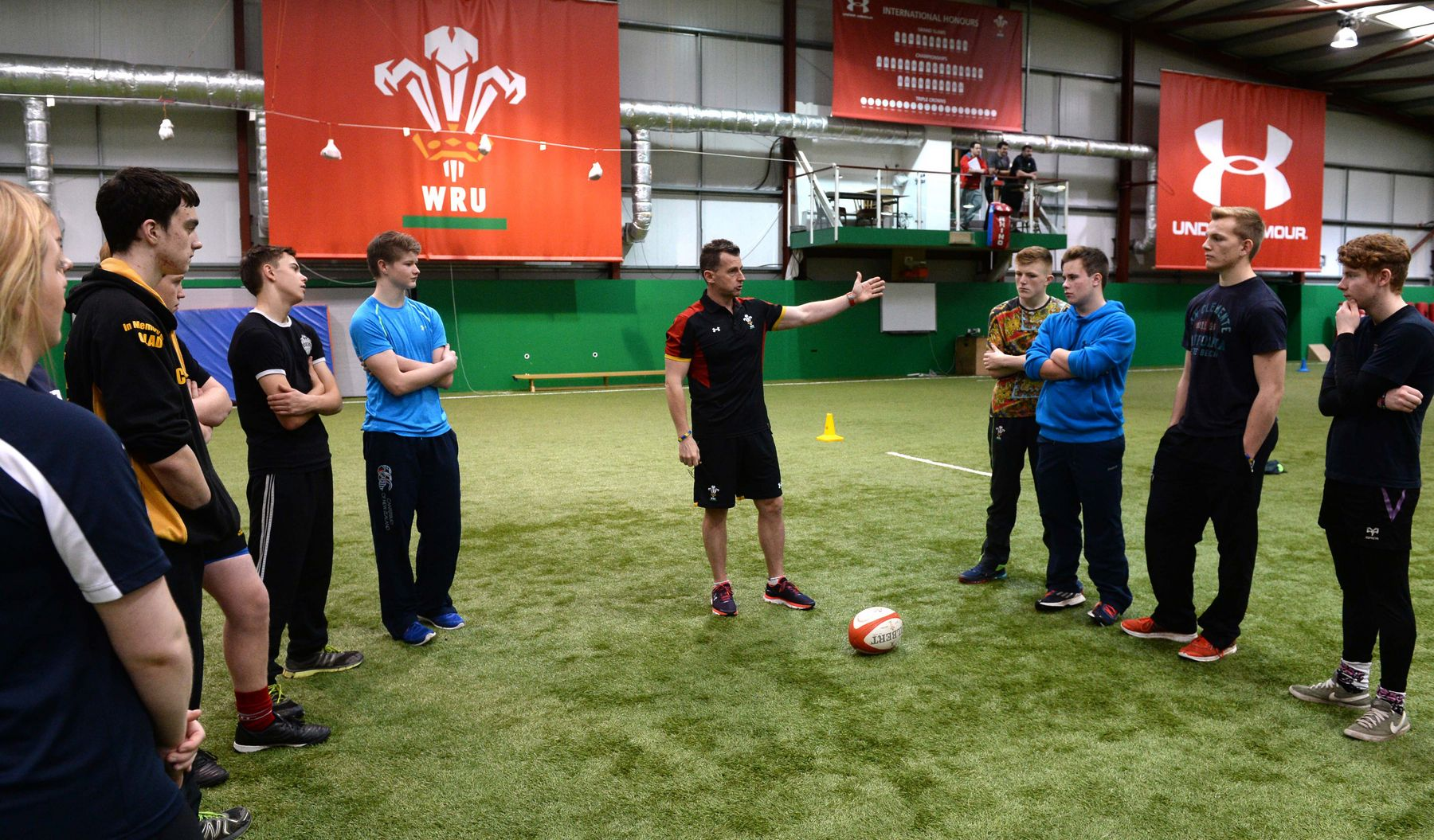 Nigel Owens goes back to school to inspire future referees