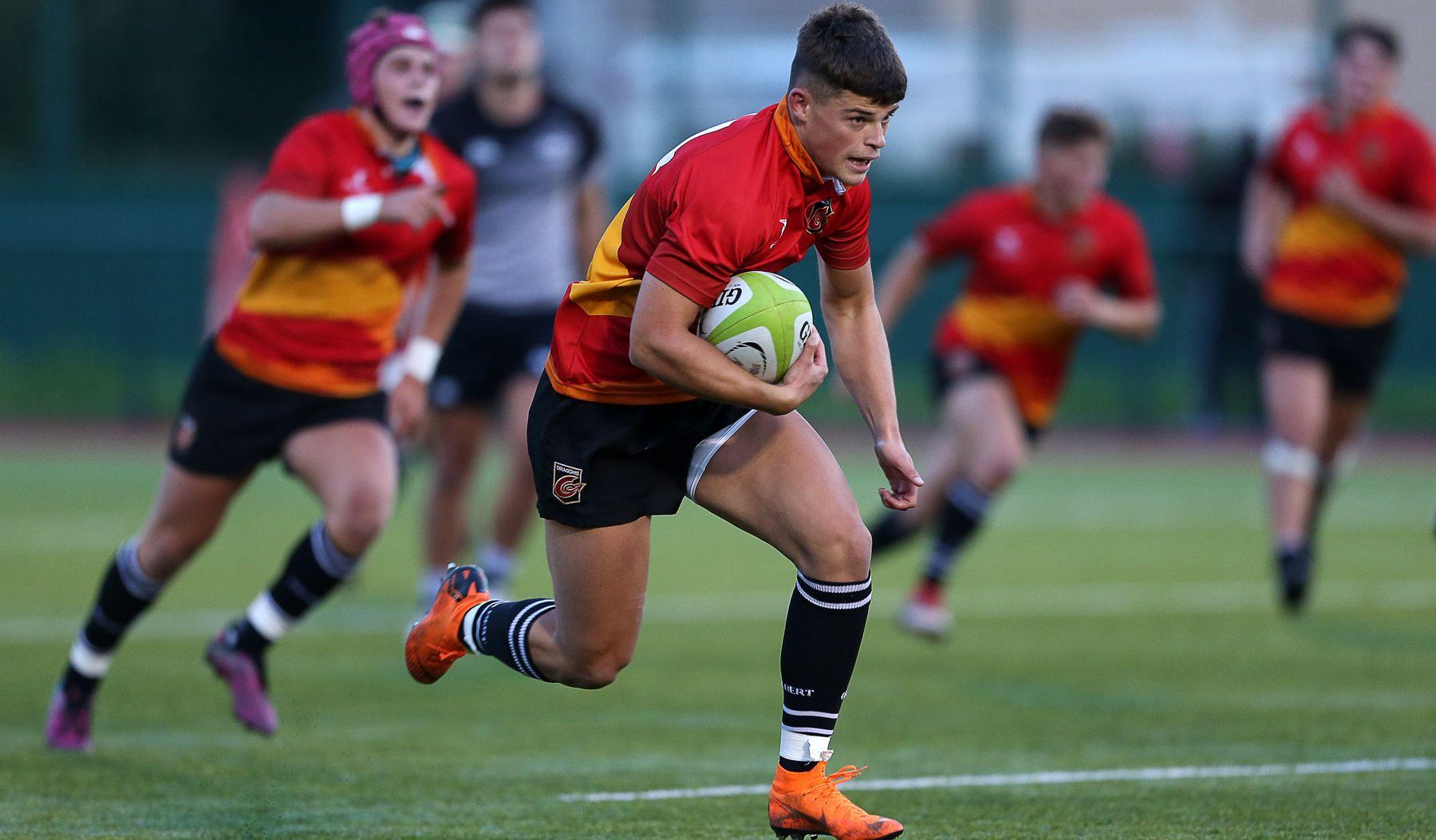 Rosser hat-trick puts Dragons U18 in command