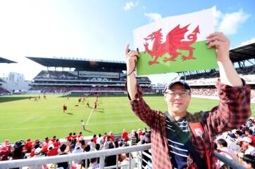 Thousands turn up to watch Wales train in Kitakyushu!