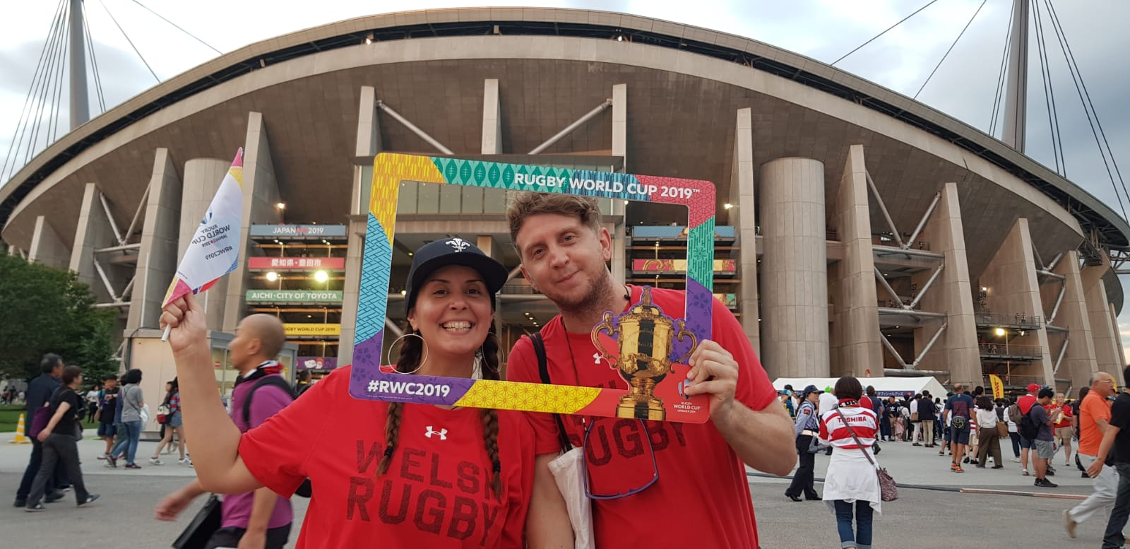 Ben and Tanya's epic journey to RWC
