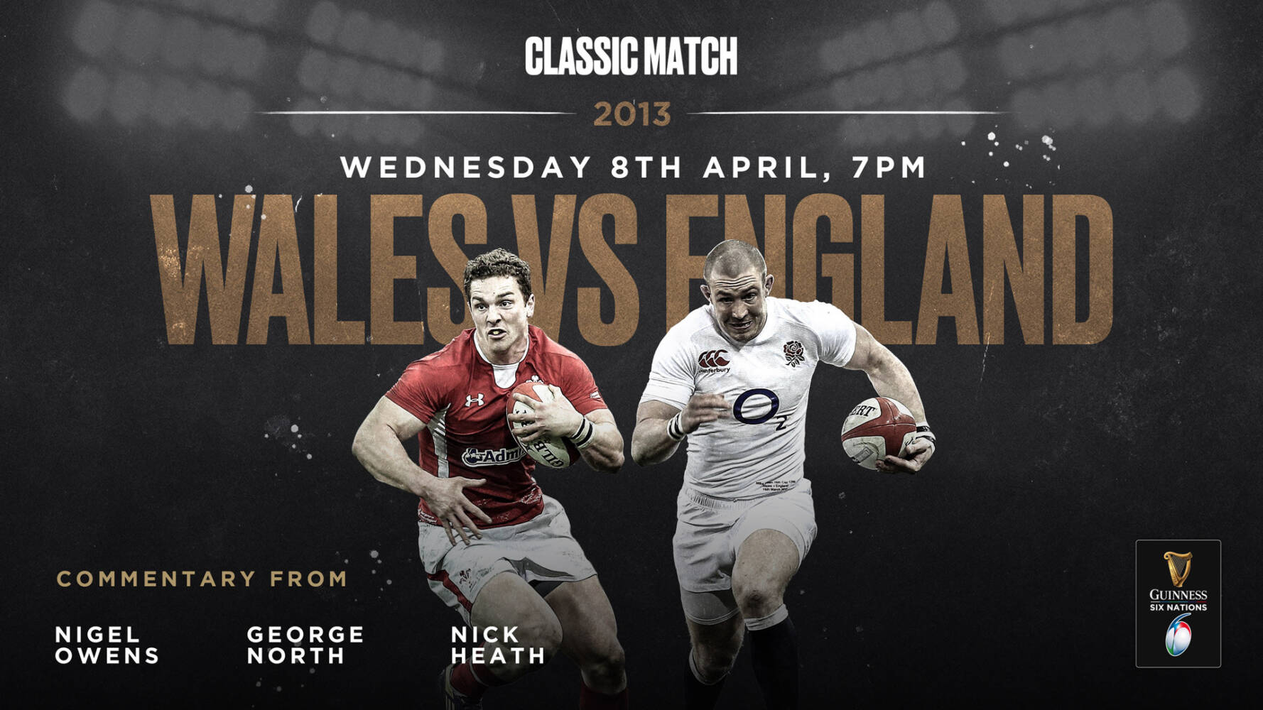 Rugby stars to commentate on 6N classic for NHS charity