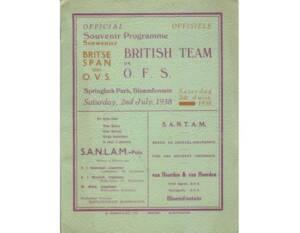 1938 Lions programme