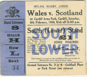 Wales Rugby Ticket