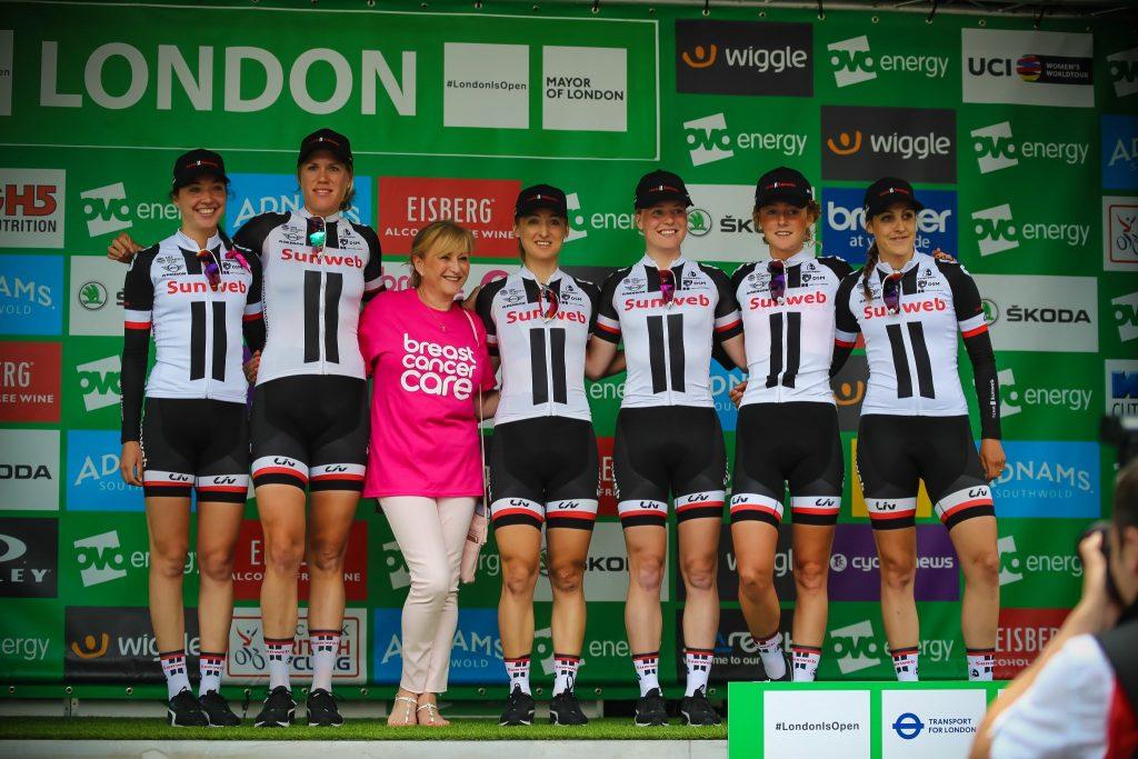 Team Sunweb London Podium Women's Tour