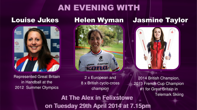 Spend an evening with some truly talented British sports stars in Felixstowe