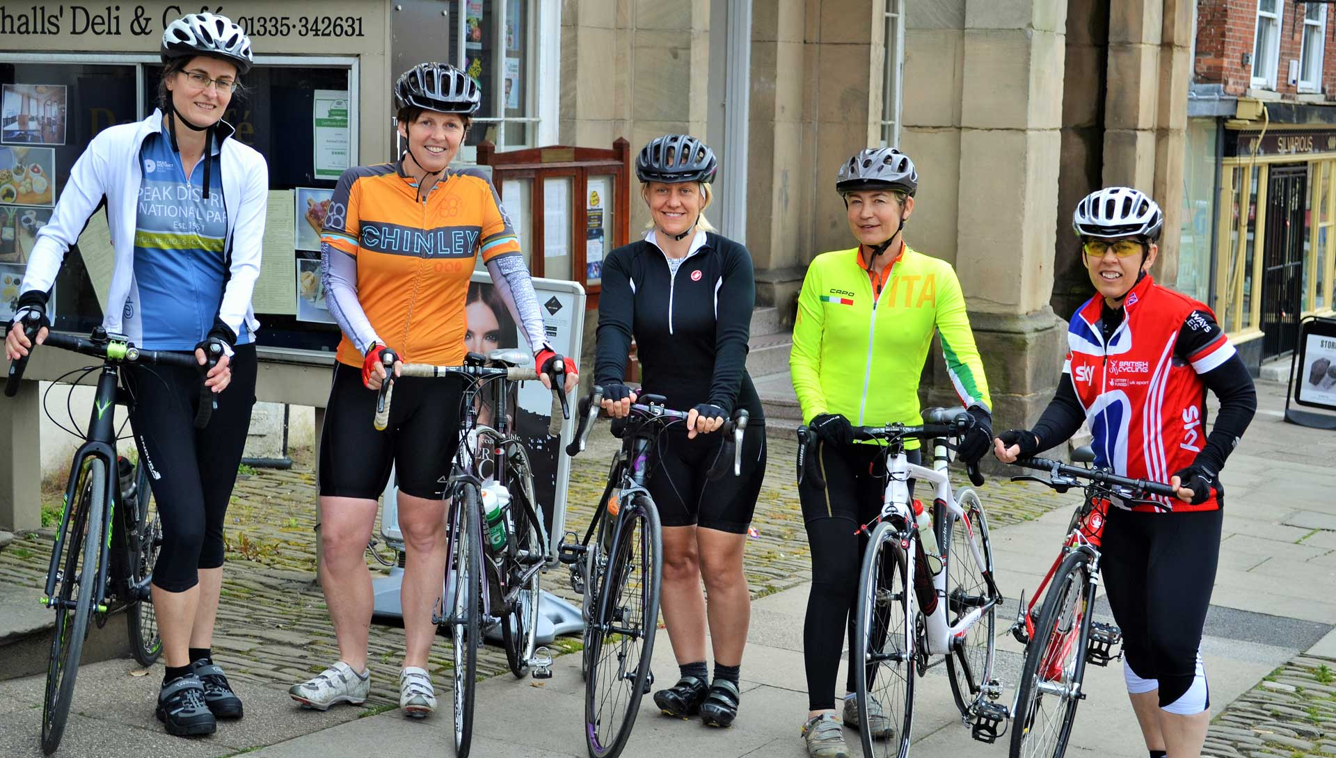 Riding Derbyshire Aviva Women's Tour Stage to promote cycling to women and girls