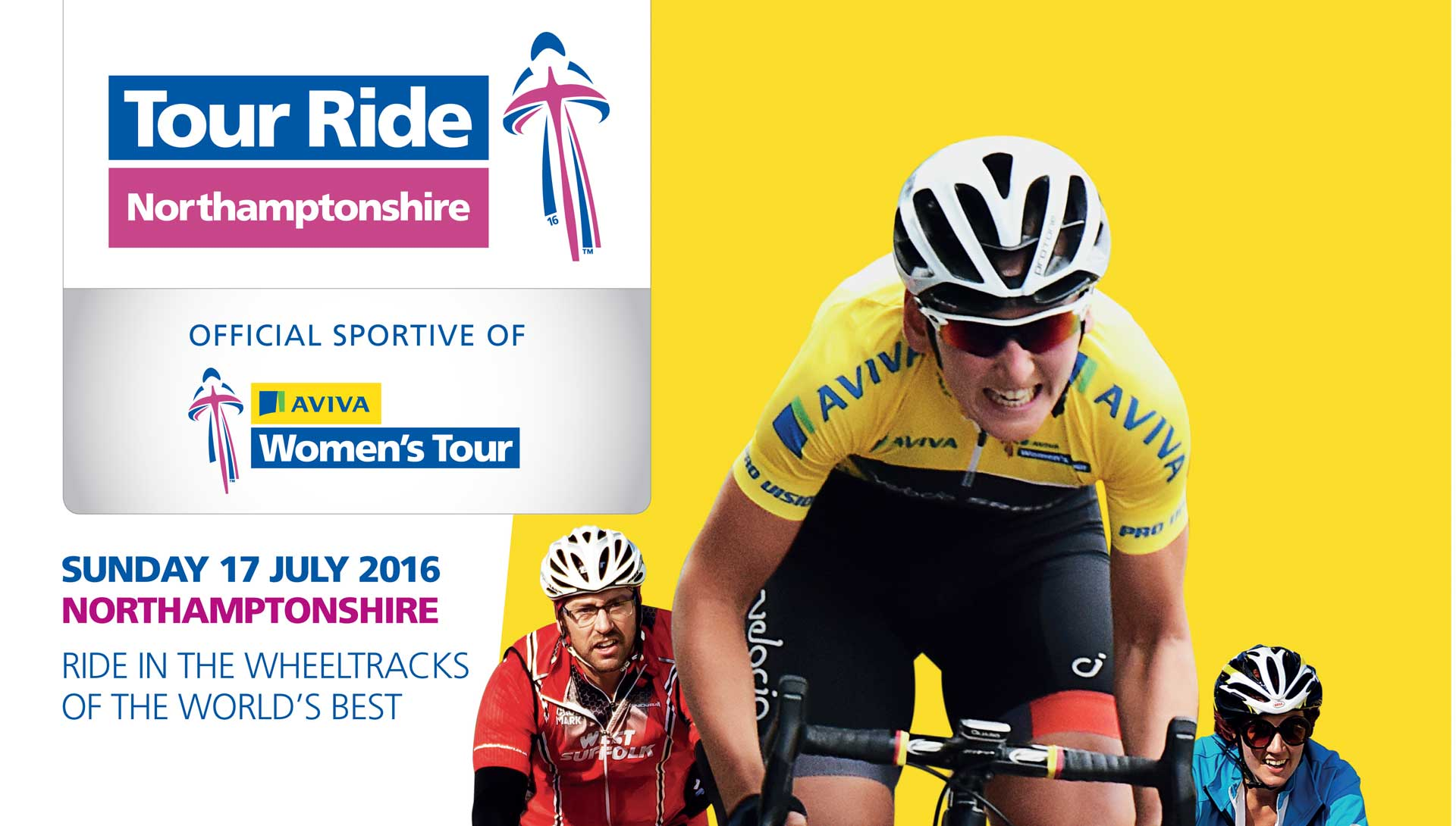 Join us for the official cyclo sportive of the Aviva Women's Tour