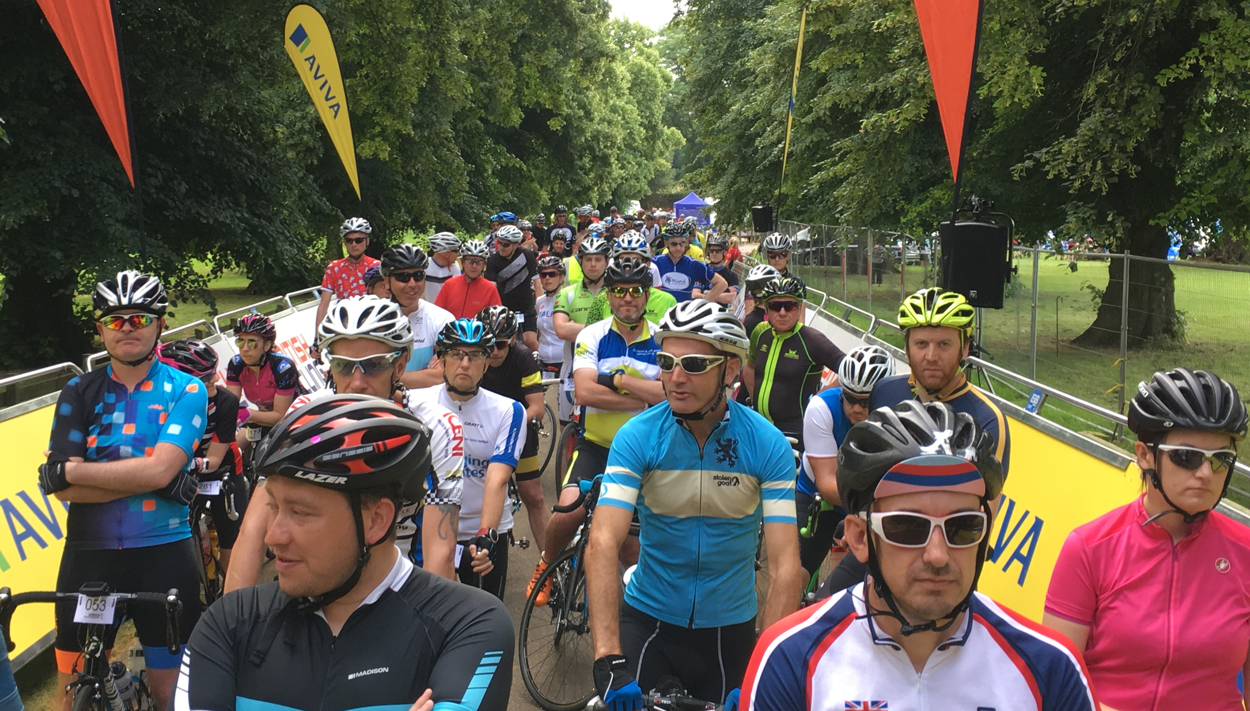 Hundreds of cyclists complete official Aviva Women's Tour sportive