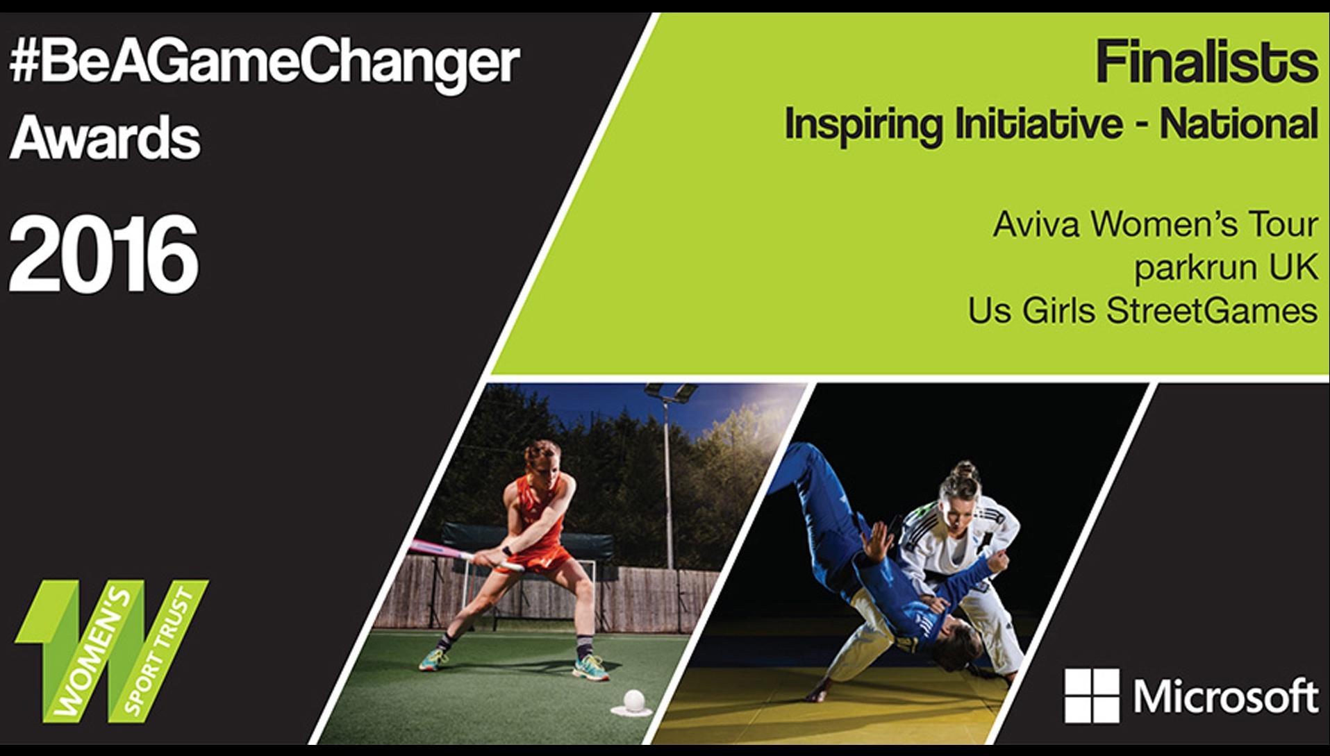 Aviva Women's Tour finalist in Women's Sport Trust #BeAGameChanger Awards