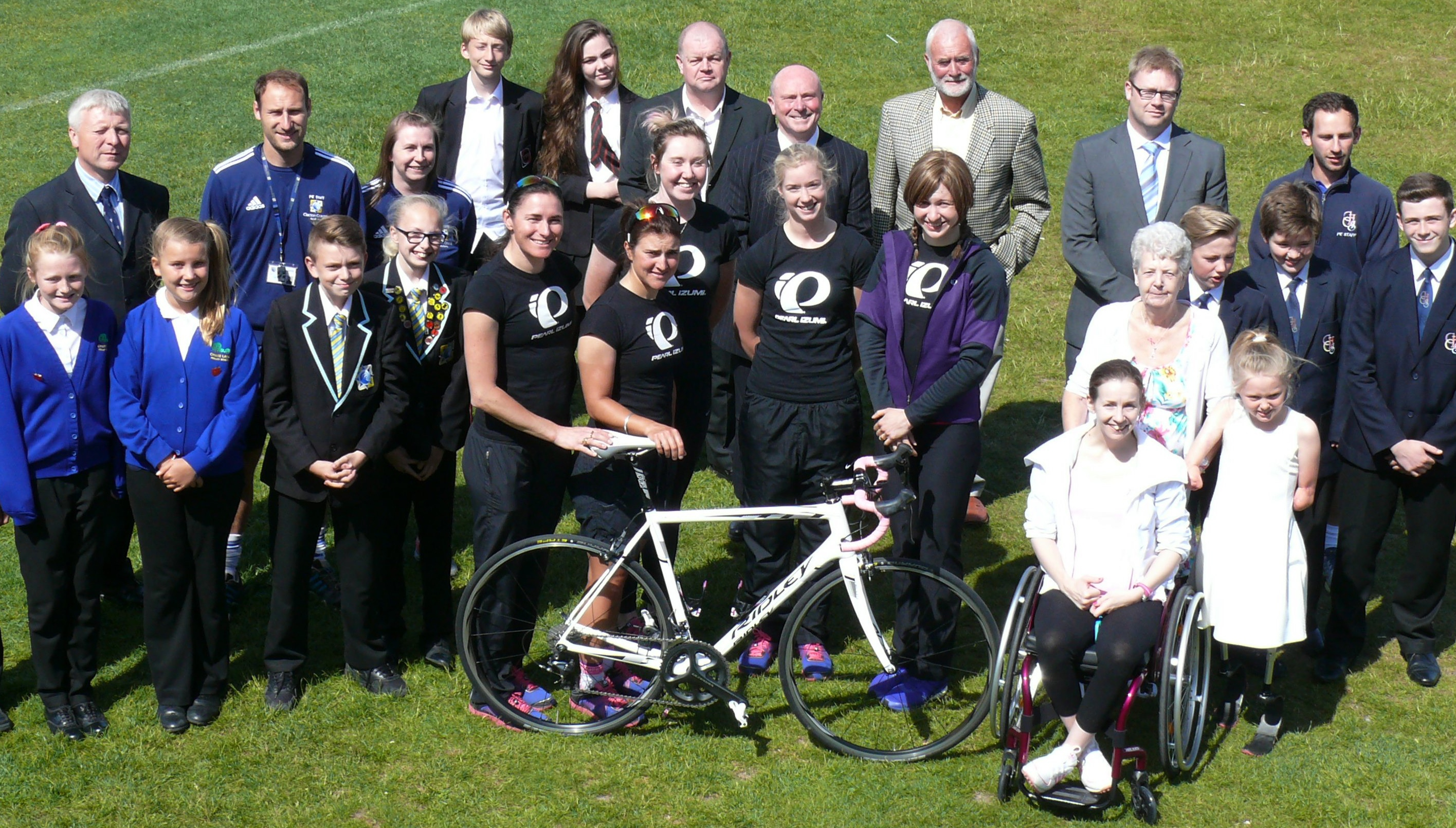 12-time Gold medallist rides into Clacton with her team