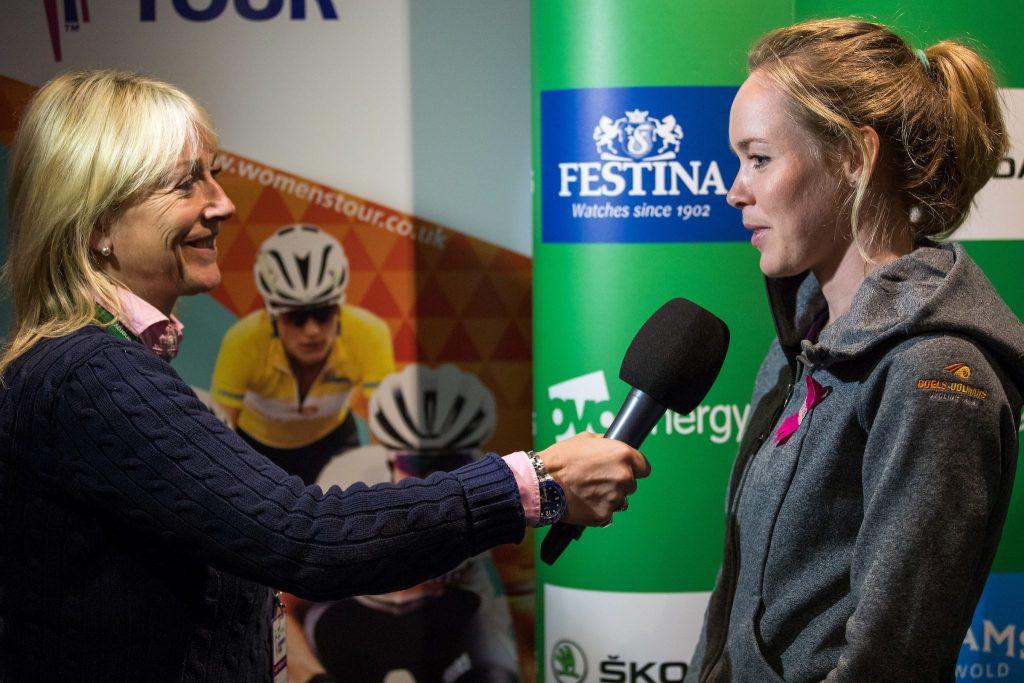 TV Television interview Jill Douglas Anna van der Breggen