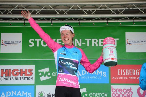 Hannah Barnes Adnams Best British Rider podium Stoke