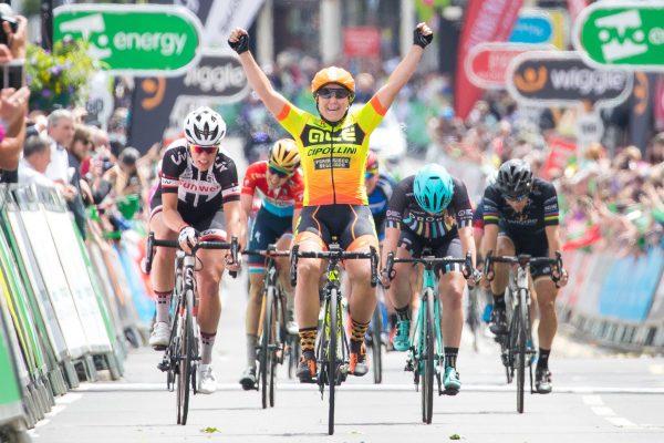Chloe Hosking Ale Cipollini Stage 3 Royal Leamington Spa
