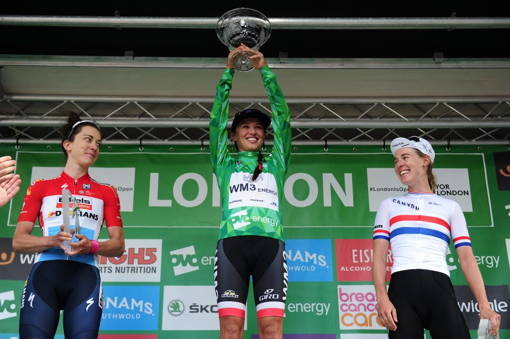 Kasia Niewiadoma Champion 2017 London Podium winner Green Jersey