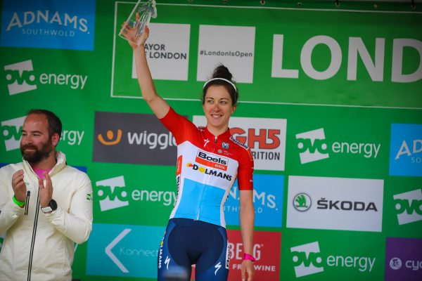 Christine Majerus Boels Dolmans podium Stage 5 London