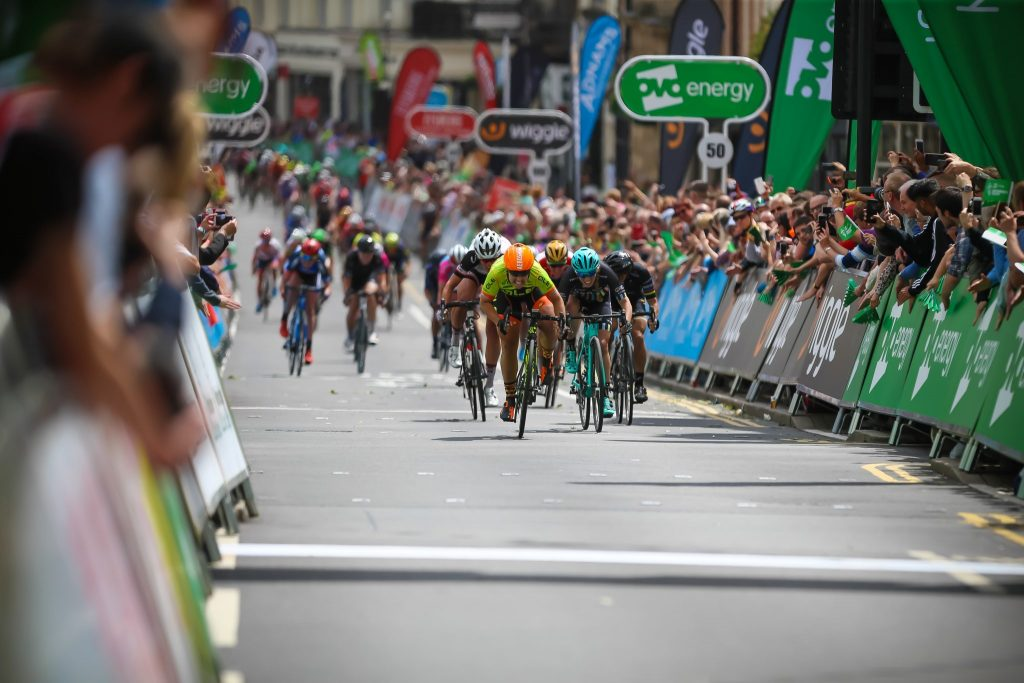 'I've Joined An Elite Group' - Ale Cipollini rider Chole Hoskins sprints to victory in Royal Leamington Spa in front of a huge crowd.